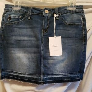 Dresses & Skirts - Women's denim skirt size 7 waist 27